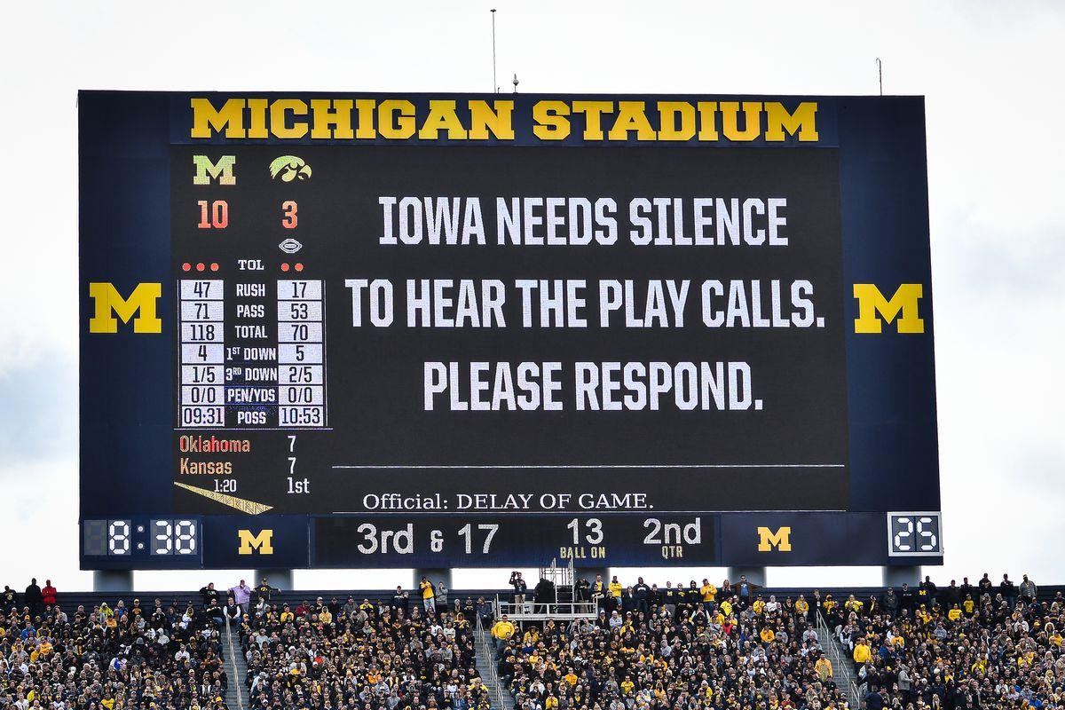COLLEGE FOOTBALL: OCT 05 Iowa at Michigan