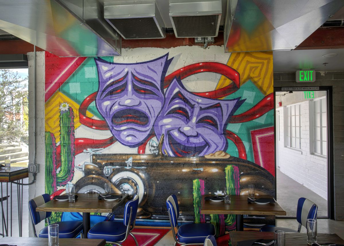 A drama mural