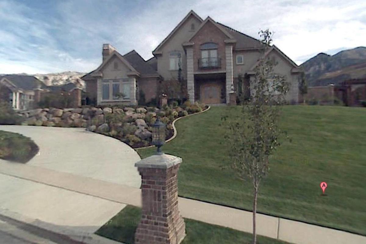 Senator Mike Lee's former Alpine home pictured on Google Maps, 2012.