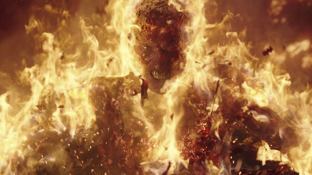 a man on fire in project power