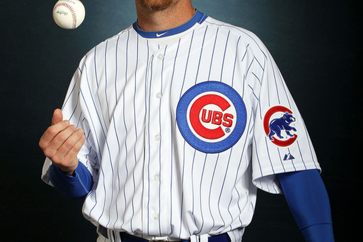 Pitcher Ryan Dempster of the Chicago Cubs poses during spring training photo day in Mesa, Arizona.  (Photo by Jamie Squire/Getty Images)
