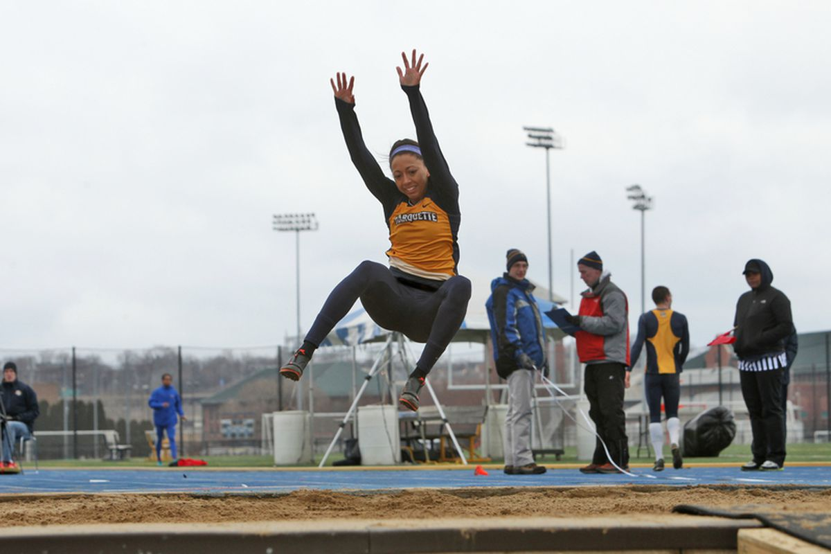 Carlye Schuh won the women's long jump at the Big East championships over the weekend.