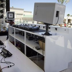 The deejay booth at Daylight Beach Club.