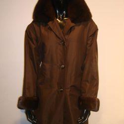 <b>J. Mendel</b> Raincoat with Mink Trim, $4,250