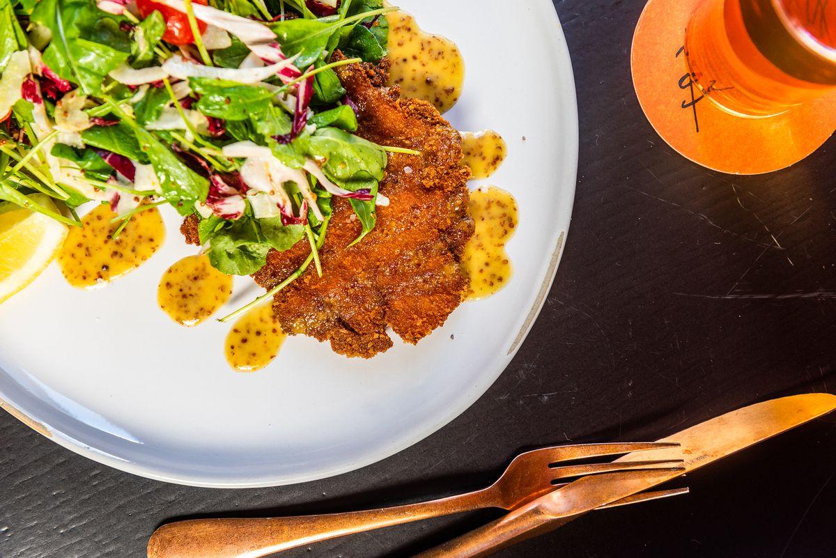 Chicken schnitzel from La Betty.