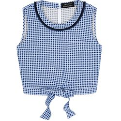 Timo Weiland teamed up with Banana Republic, and the end result is this cute gingham top with a tie-front.