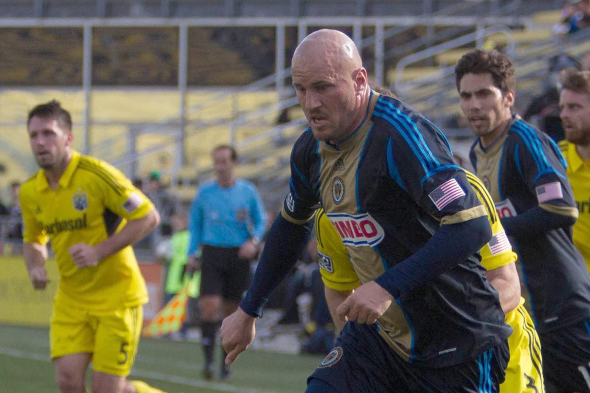 Conor Casey. He's caused plenty of problems for TFC over the years, but how are Philadelphia using him?