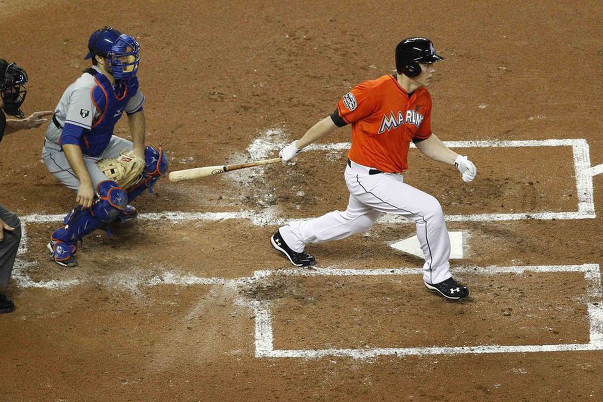 Is Logan Morrison's time in Marlins orange running out?