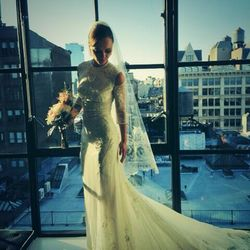 To walk down the aisle with James Heerdegen on October 26th, 2013, Wednesday Addams — er, Christina Ricci — went for a custom-made Givenchy gown with shoulder cutouts.
