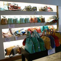 Plenty of large handbags.