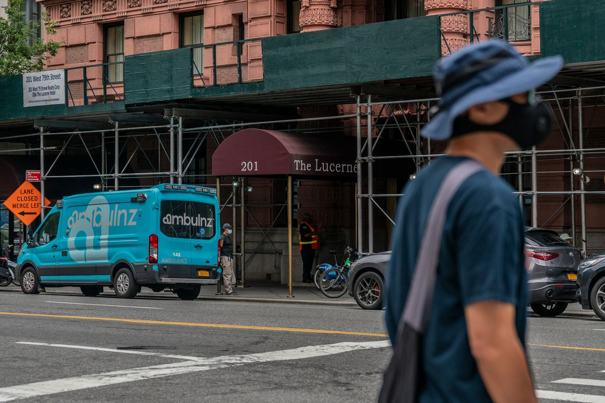 The city was using the Upper West Side's Lucerne Hotel to house the homeless, Sept. 11, 2020.
