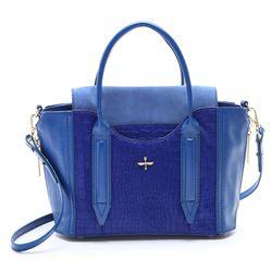 "An adorable shape in an incredible shade of blue. Pour La Victorie <a href=""http://www.shopbop.com/provence-satchel-pour-victoire/vp/v=1/1519452547.htm?folderID=2534374302178457&fm=other-shopbysize-viewall&colorId=10563"">Provence satchel</a>, $495."