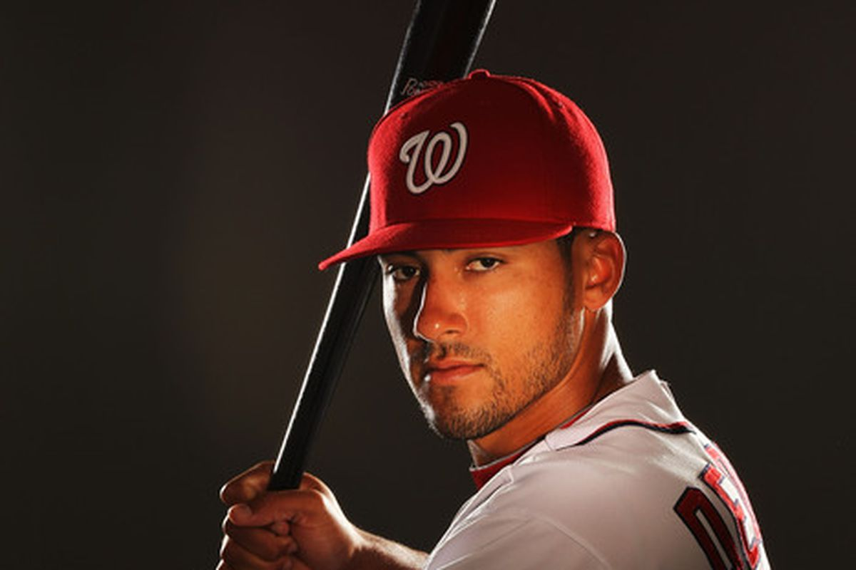 VIERA FL - FEBRUARY 25:  Ian Desmond #6 of the Washington Nationals poses for a portrait during Spring Training Photo Day at Space Coast Stadium on February 25 2011 in Viera Florida.  (Photo by Al Bello/Getty Images)