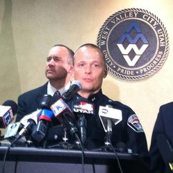 West Valley City Deputy Police Chief Mike Powell speaks at a press conference Monday, May 20, 2013.