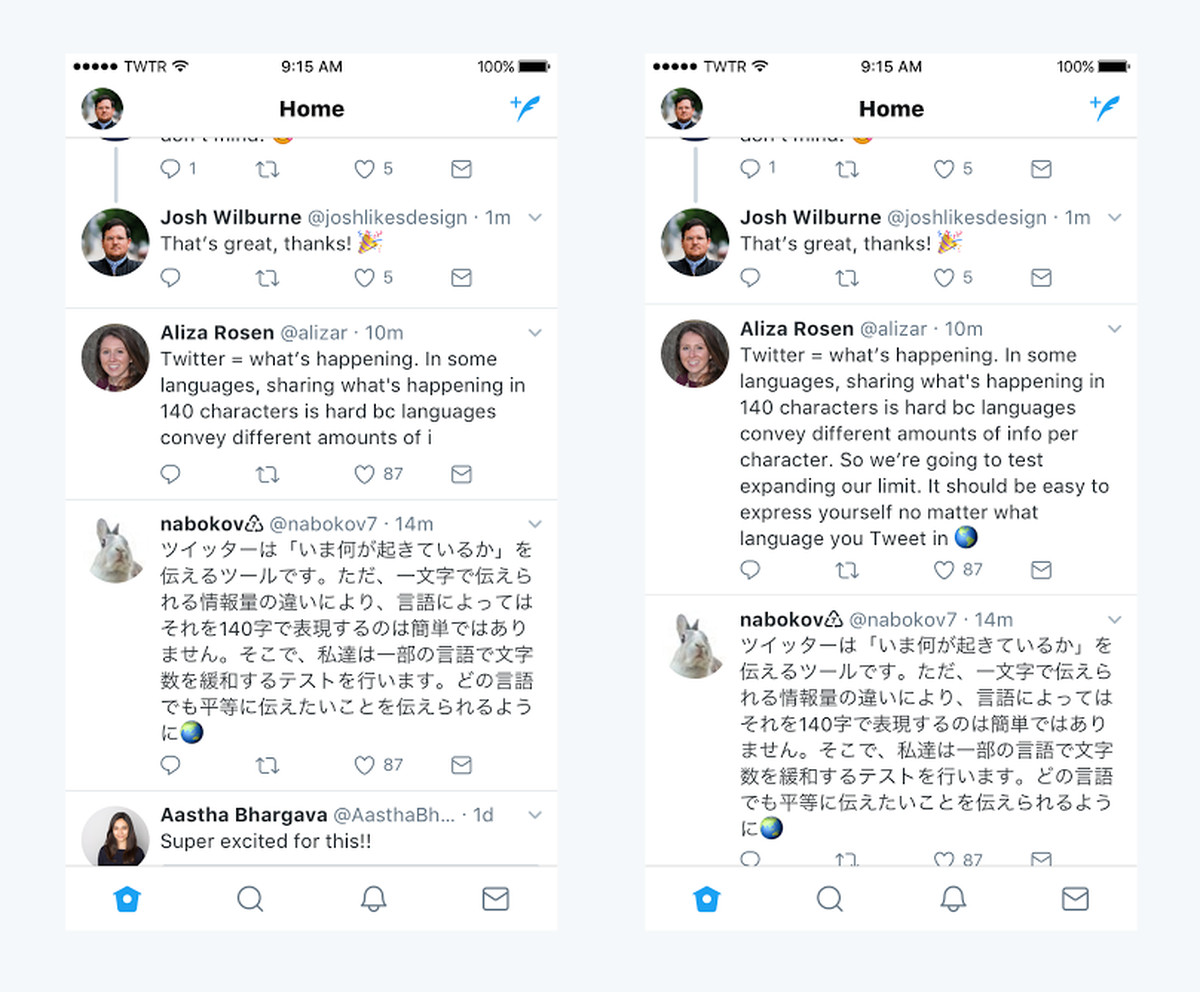 Still, the company said it is open to revisiting the subject of expanded  tweets for Asian languages as it learns more.