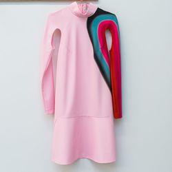 It's Me by Dina Lynnyk mock neck Scar Lynnyk dress, $765