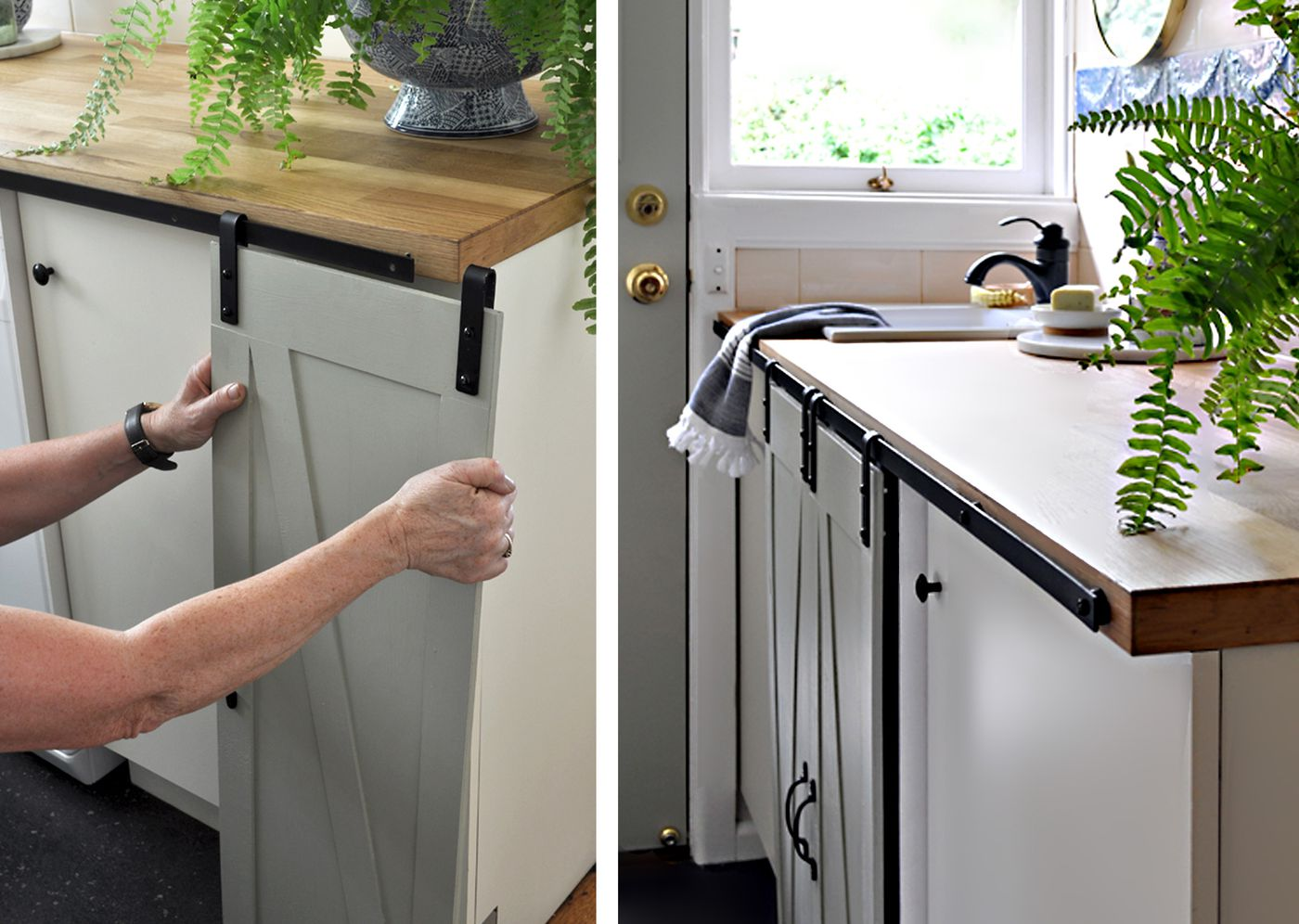 Make Mini Barn Doors For Cabinets This Old House