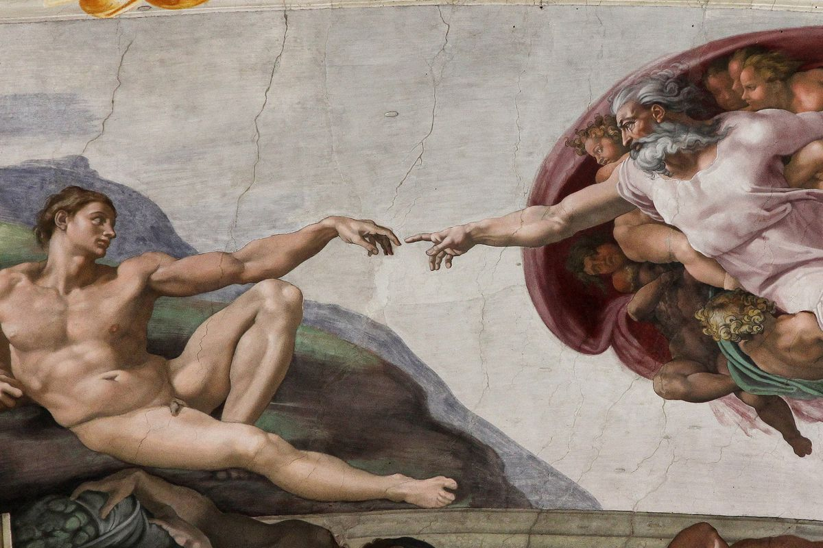 「painting of God michelangelo」的圖片搜尋結果
