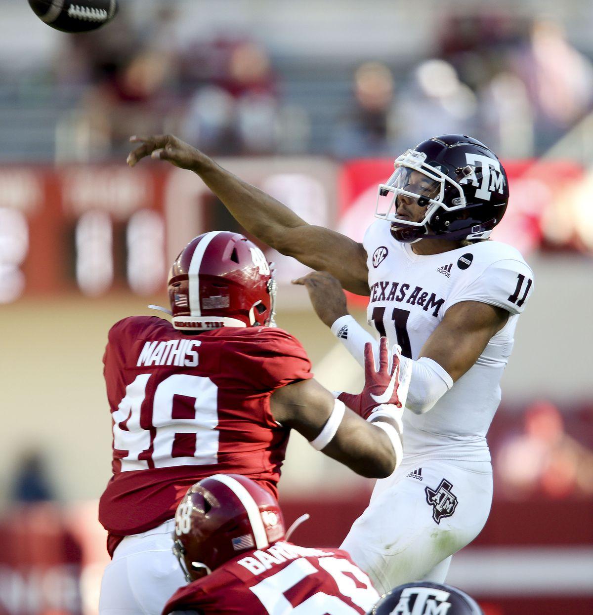 NCAA Football: Texas A&M at Alabama