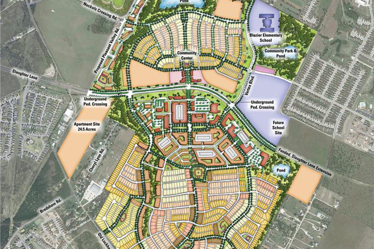 goodnight development aims to transform southeast austin  curbed  - goodnight development master plan rendering courtesy lookthinkmake