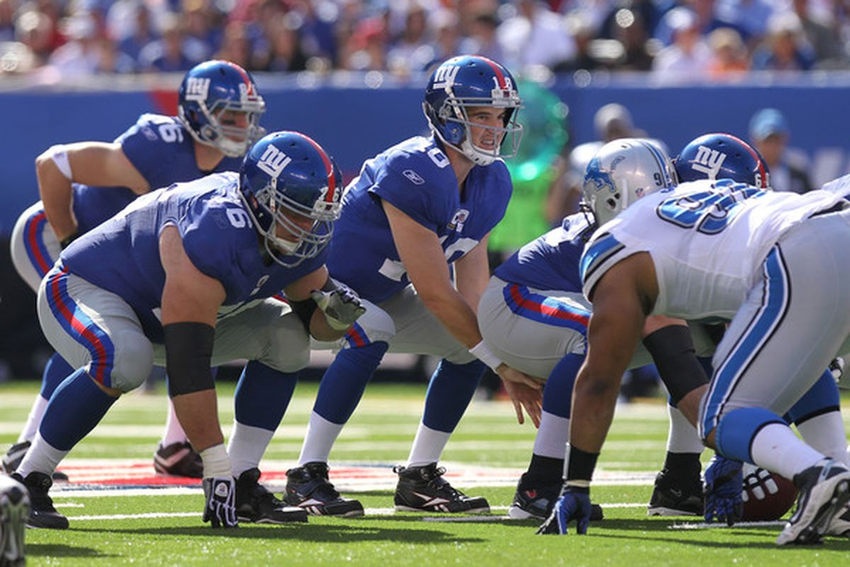 The loud conditions of Seattle's Qwest Field will test the ability of <strong>Eli Manning</strong> and the Giants offense to communicate effectively.  (Photo by Nick Laham/Getty Images)