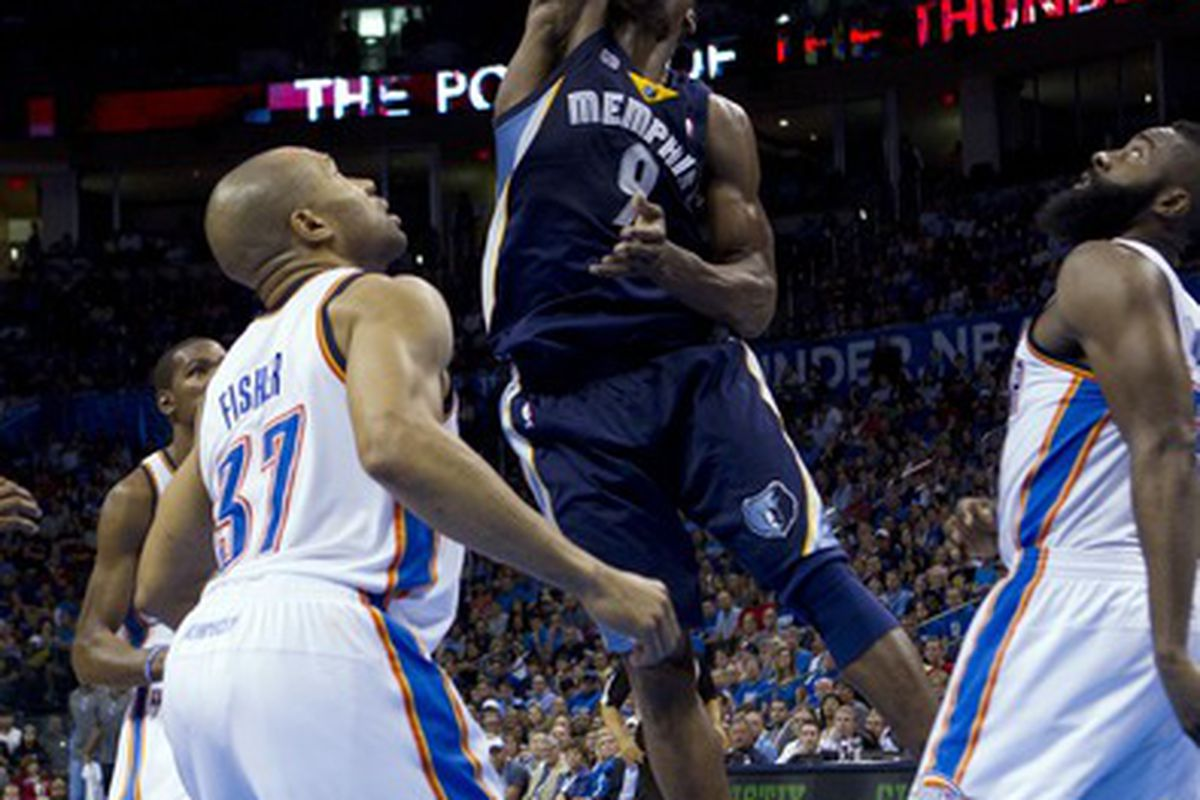 April 2, 2012; Tony Allen being the monster that he is.