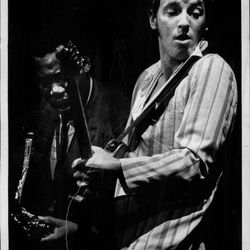 Bruce Springsteen performing at the Uptown Theater. | Sun-Times Archives