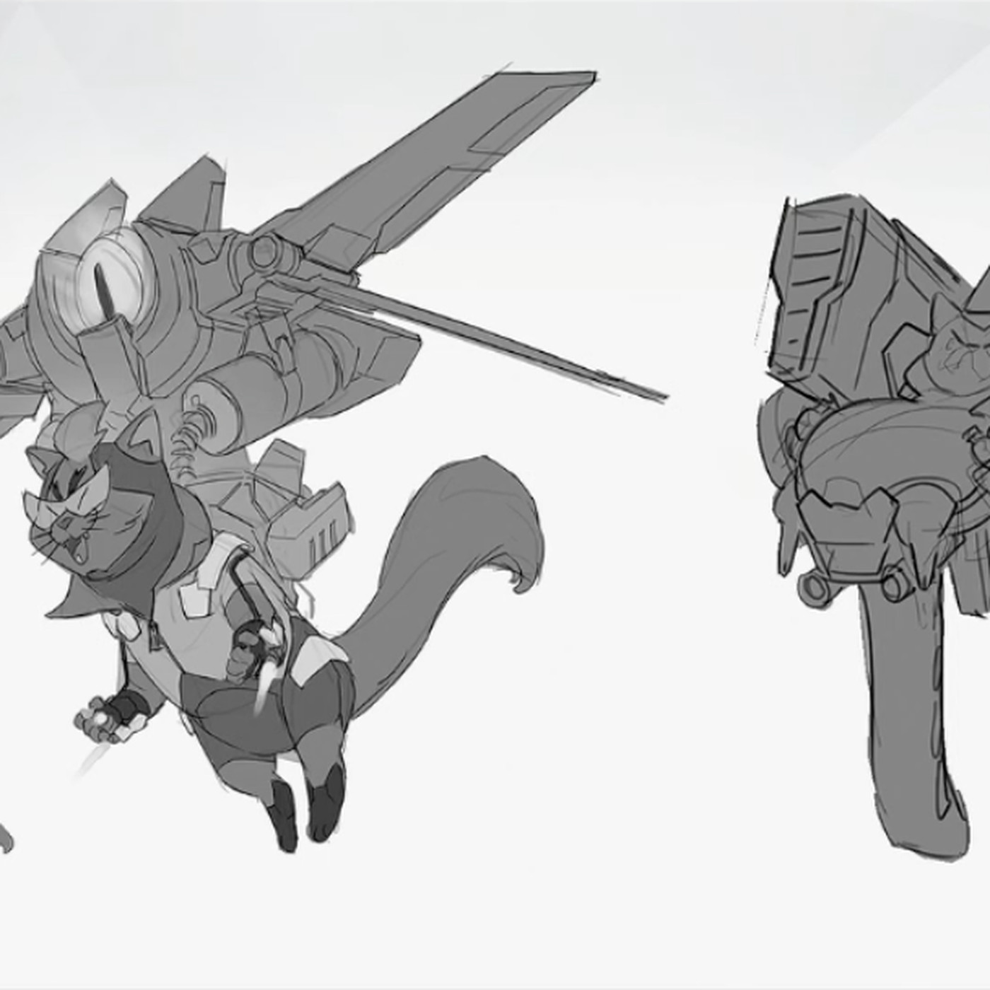 Jetpack Cat Concept Art