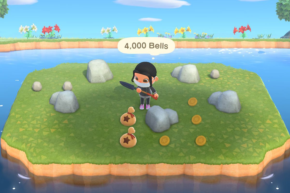 Farming The Money Rock For Bells In Animal Crossing New Horizons