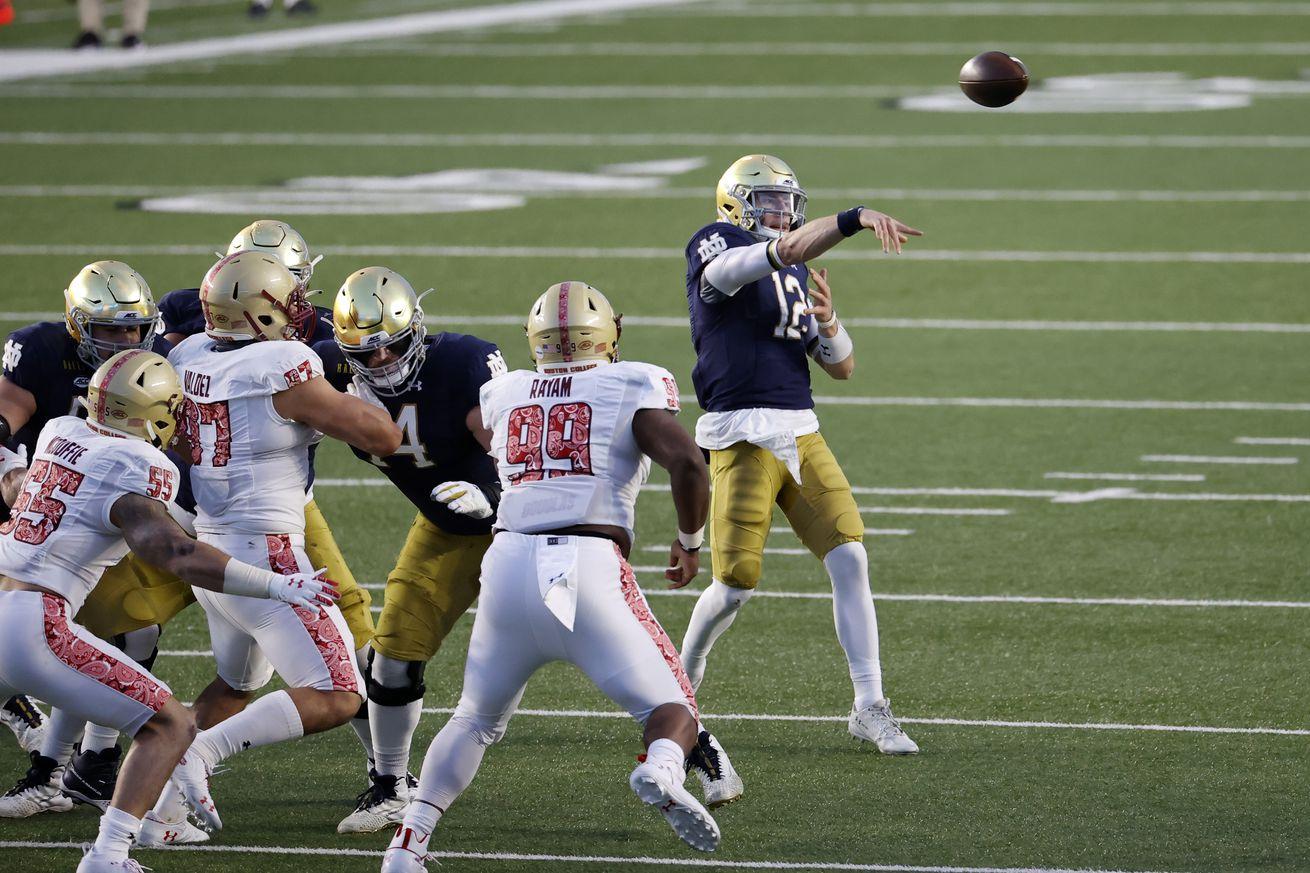 COLLEGE FOOTBALL: NOV 14 Notre Dame at Boston College