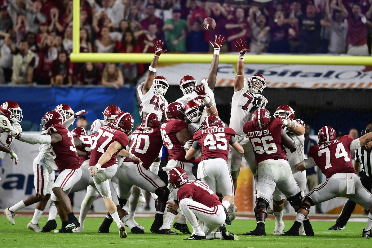 NCAA Football: College Football Playoff Semifinal-Orange Bowl-Alabama vs Oklahoma