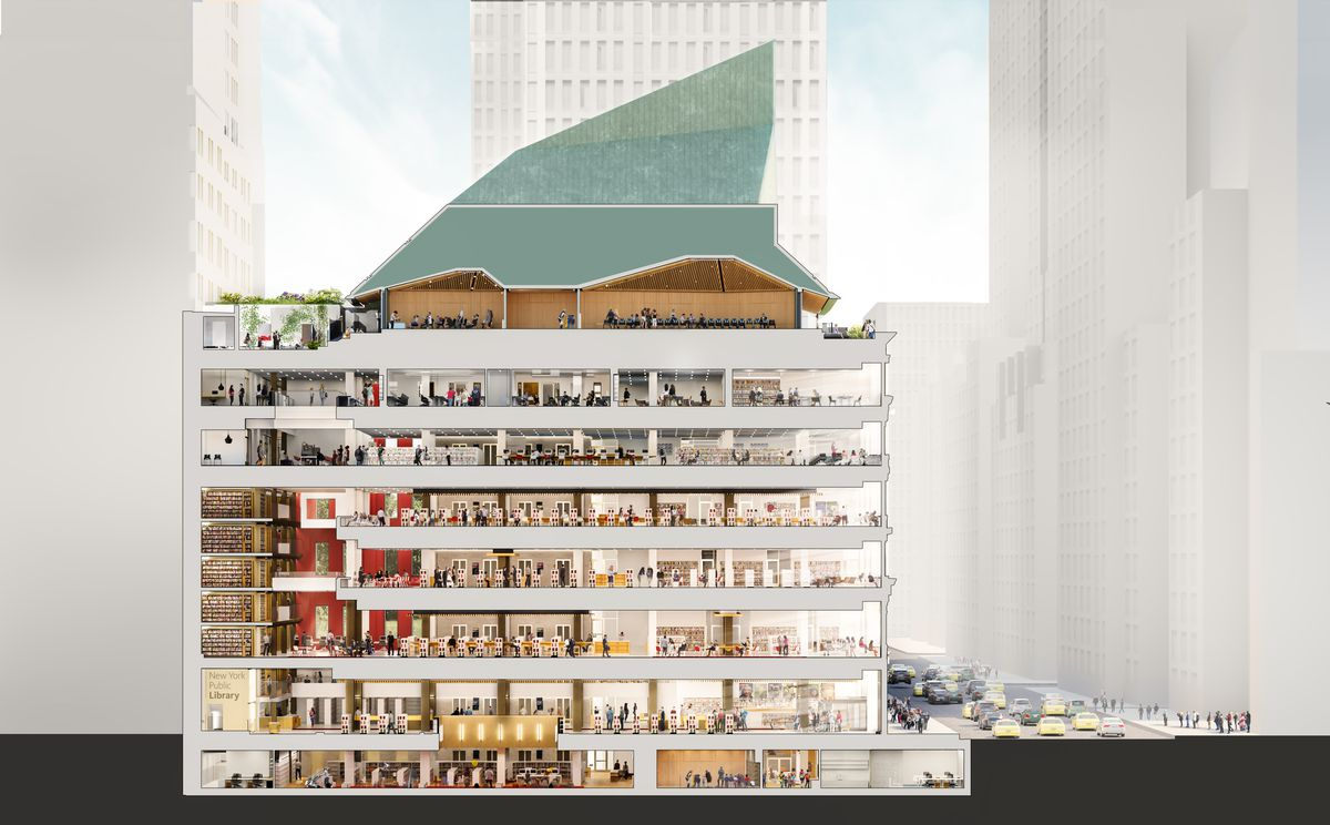 a renovation of the Mid-Manhattan Library