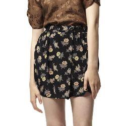 "<b>Tucker</b> Button Wrap Mini Skirt, <a href=""http://shop.tuckerbygabybasora.com/skirts/button-wrap-mini-skirt-in-idella-and-avis.html"">$230</a>"