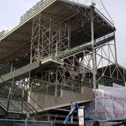 Scaffolding in LF upper deck