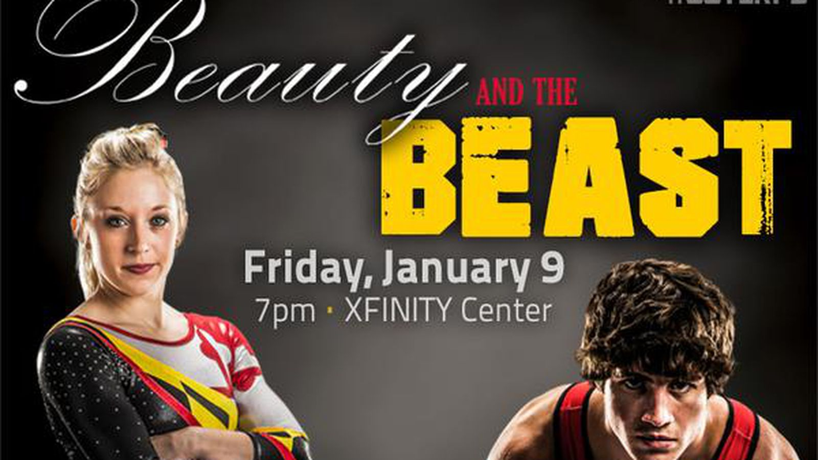It's gymnastics! It's wrestling! It's two, two, two sports in one. Previewing Maryland's Beauty & the Beast.