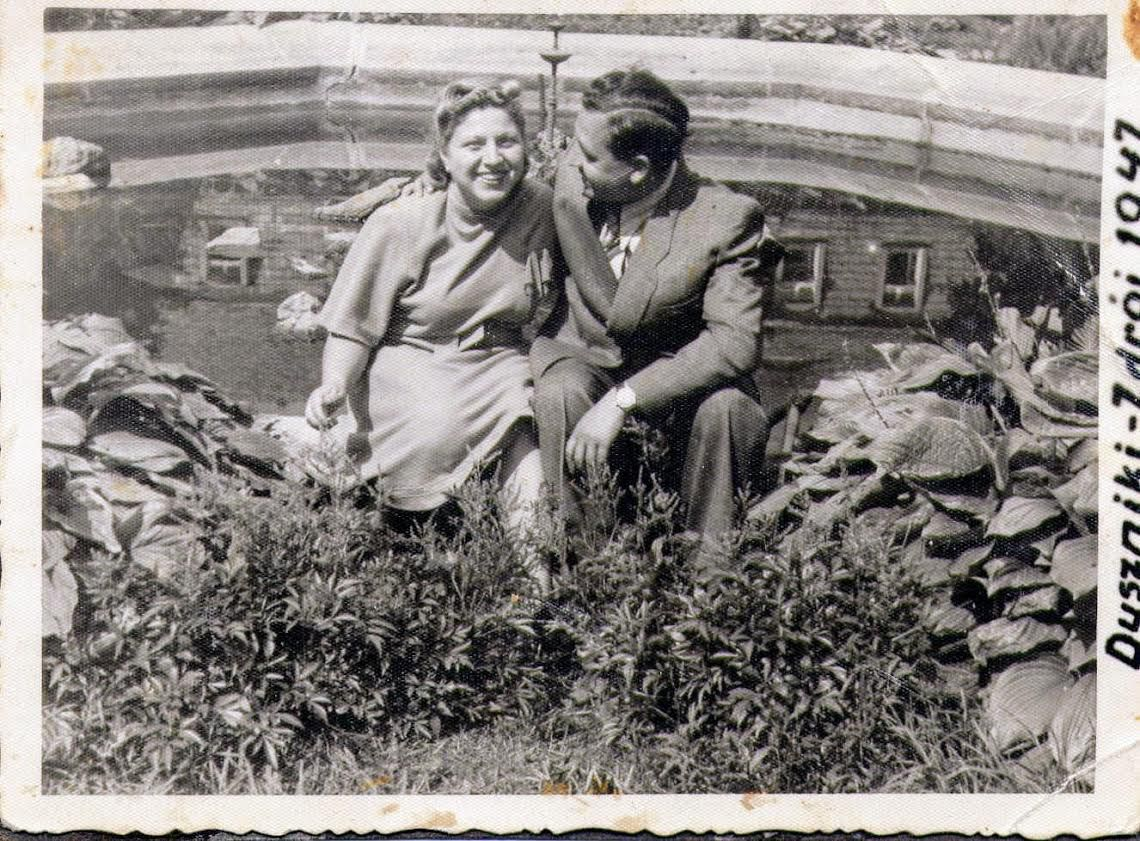 Barbara Steiner and her husband Arnold, who helped protect her in a Nazi camp.   Provided photo