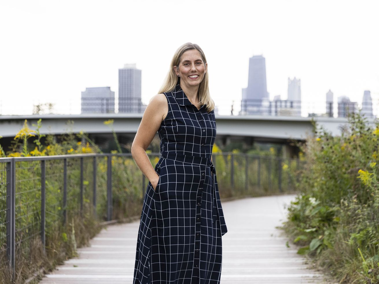 New Lincoln Park Zoo president and CEO Megan Ross poses for portrait at Lincoln Park, Tuesday, Sept. 7, 2021. | Anthony Vazquez/Sun-Times