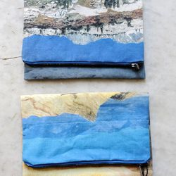 Because all purses are works of art in their own right.  Lee Coren Landscape Clutch, $65, Vagabond Boutique.