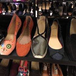 Flats on sale, including Charlotte Olympia and Christian Louboutin