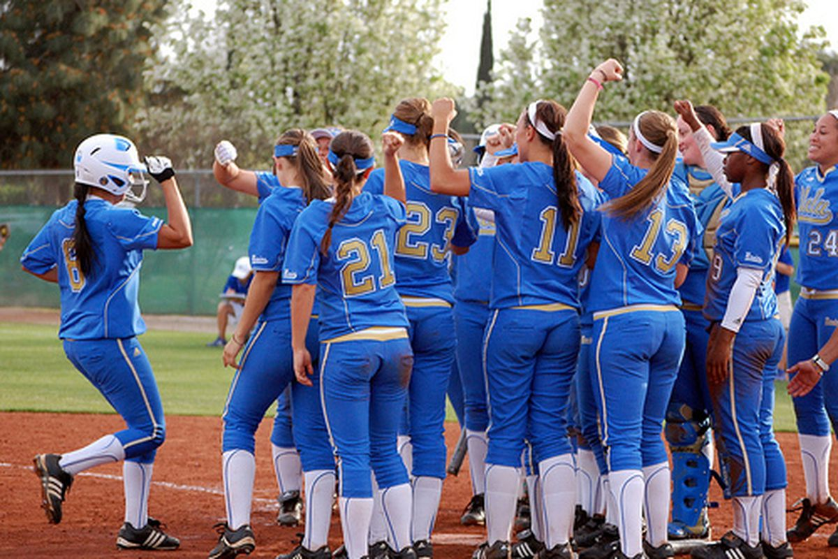 """<em>Andre Harrison has been knocking them out all season for the Four Letters. Photo Credit: <a href=""""http://www.flickr.com/photos/uclasoftball/4453673510/"""" target=""""new"""">UCLA Softball (flickr)</a></em>"""