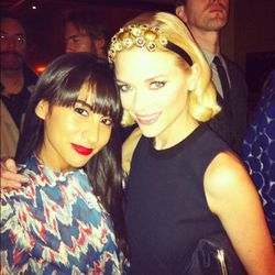 Yours truly with our girl, Jaime King.