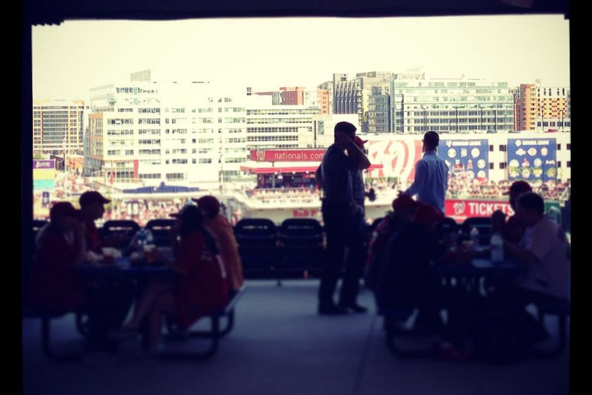 View from the 300s in Nationals Park out toward center field.