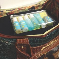 """I'm heading out west for a quick business trip. I love packing very light and with my favorite <a href=""""https://www.blissworld.com/skincare/shop-by-product-type/bundles/bliss-sinkside-six-pack/"""">essentials</a> from <b>Bliss</b>."""
