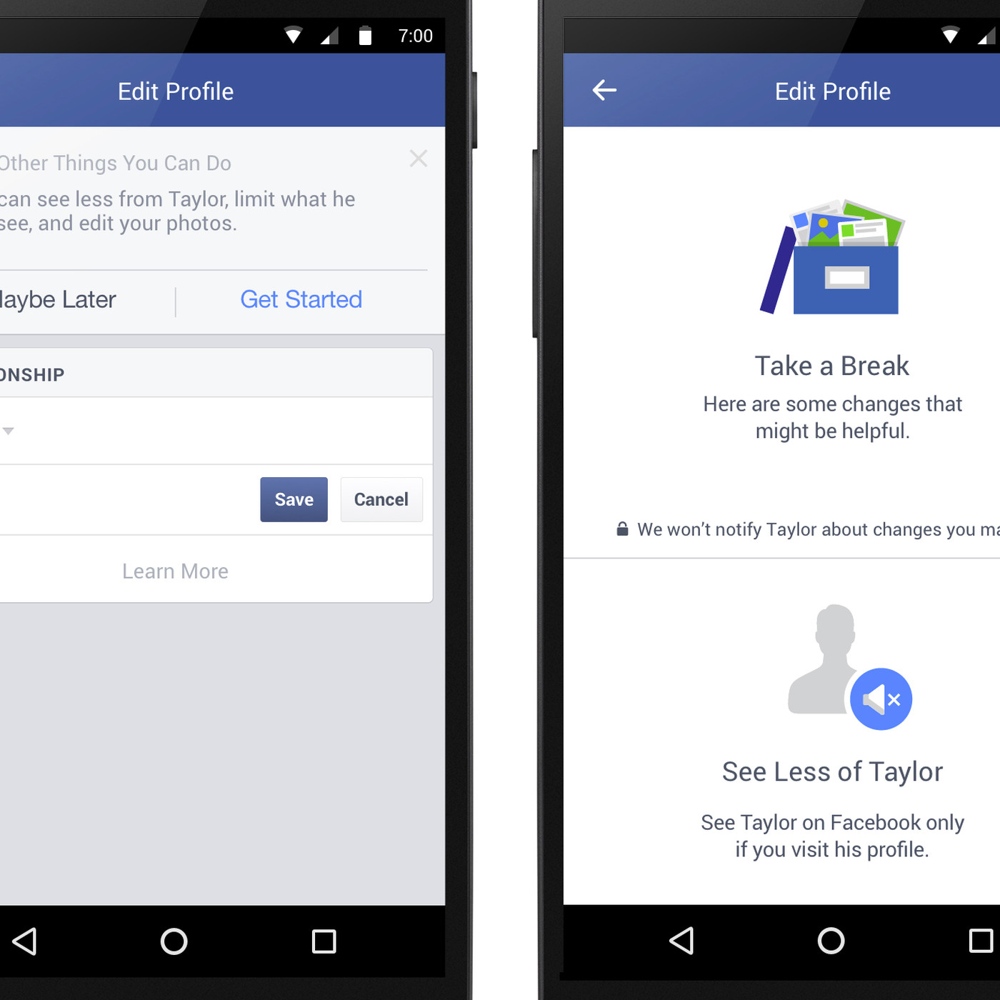 Facebook will now offer to hide your exes from you after a