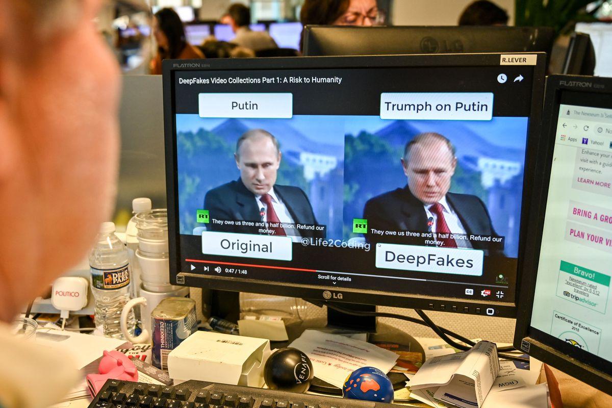 Manipulated image of Putin.