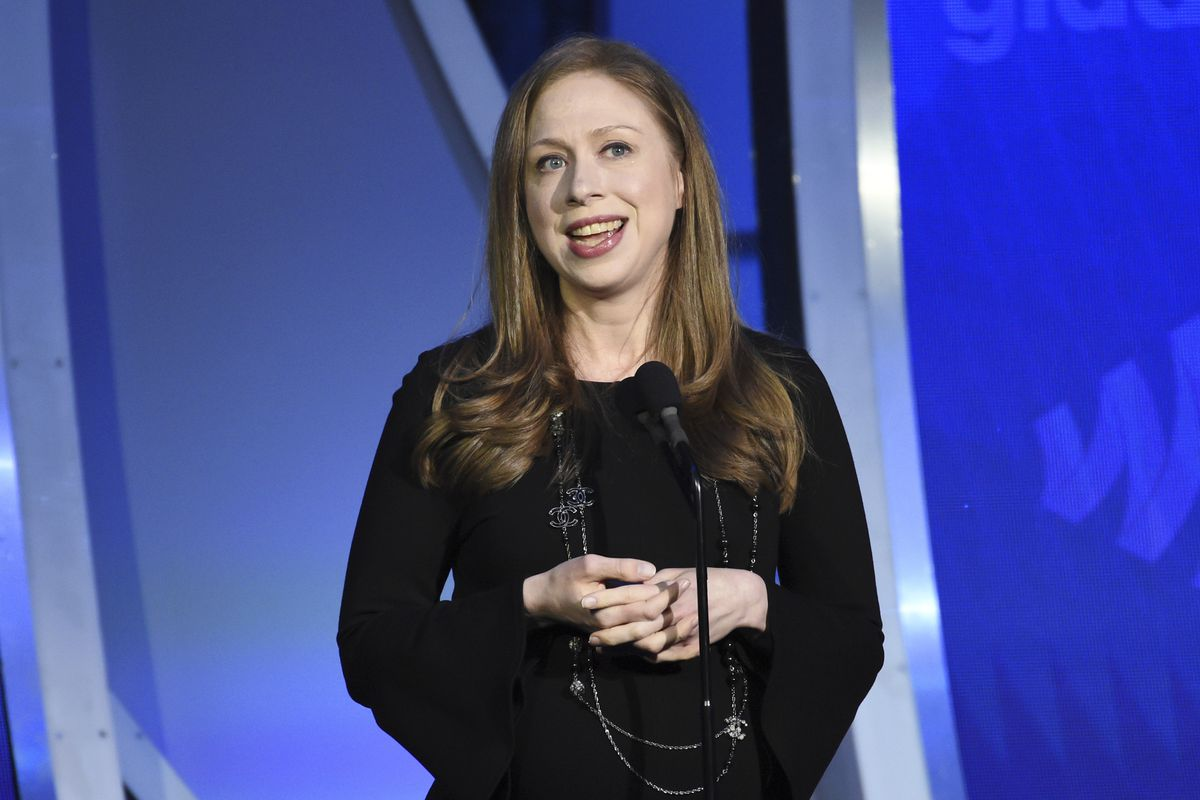 Chelsea Clinton speaks at the 30th annual GLAAD Media Awards in New York in 2019.