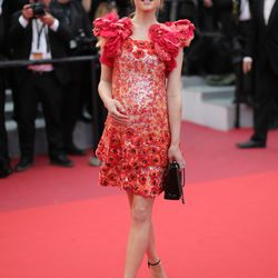 Clémence Poesy in Chanel spring 2015 couture at the closing ceremony