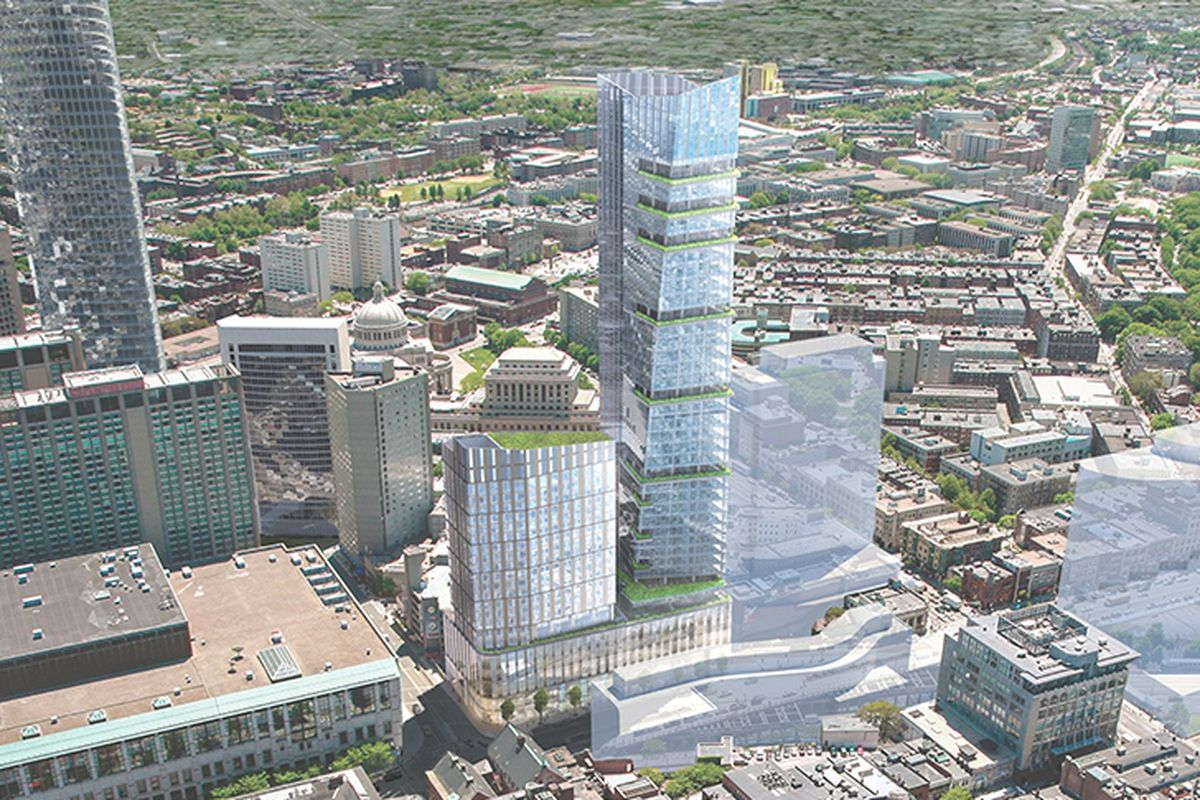 Plans For Two Back Bay Towers Over Turnpike Move Forward