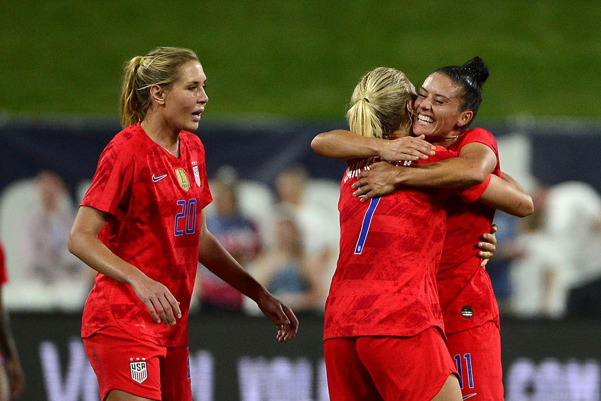 b57a4b132 Carli Lloyd scores brace in 5-0 USA win over New Zealand - Stars and ...
