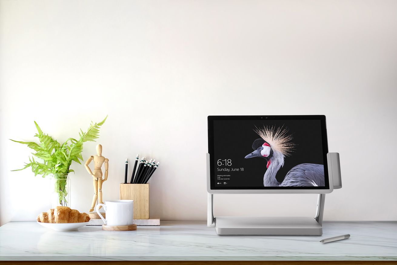 this dock turns a surface pro into a miniature surface studio